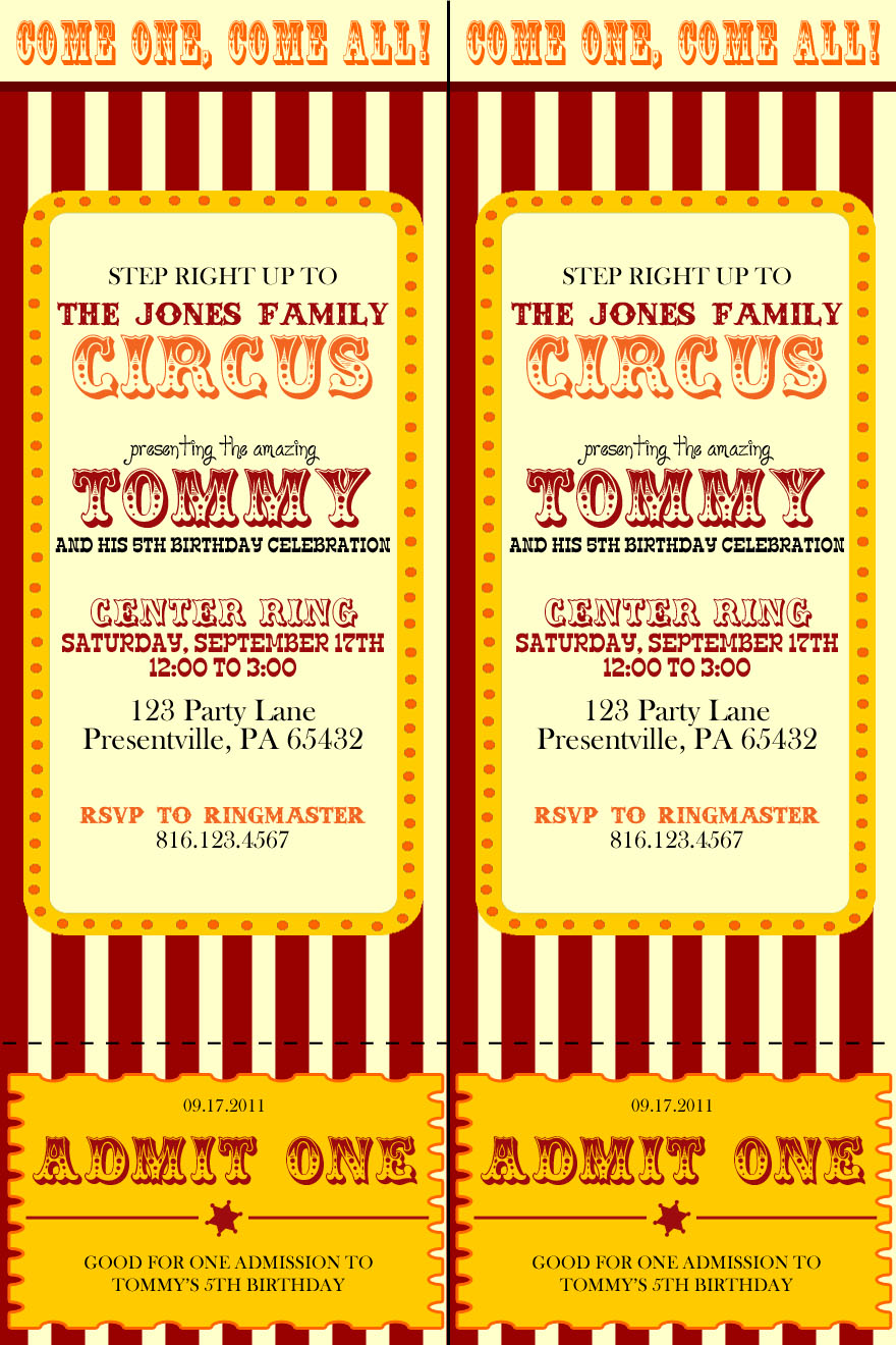 Circus pages coupons